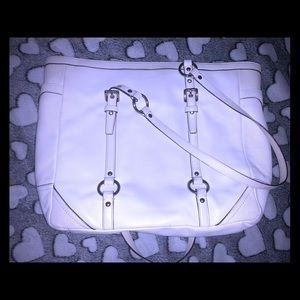 Coach very large leather ware glacier white